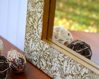 Wall Mirror | Wood and Decorative Paper