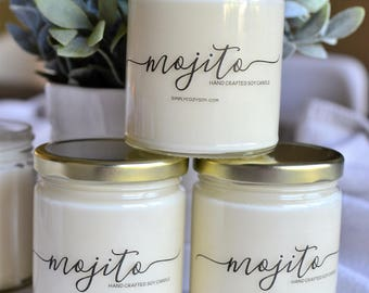 mojito - hand poured soy candle