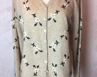 244. SOLD - WOOLRICH- Floral Cardigan