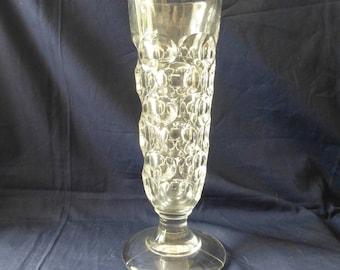 Victorian Ale Flute , Antique Dimple Champagne Flute, Vintage Vase, Victorian Ale Rummer, Collectible Glass, Gift Ideas.