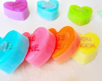 Handmade - aromatic soap in the form of heart - With phrases - Organic Soaps - Natural soaps - Colors soaps