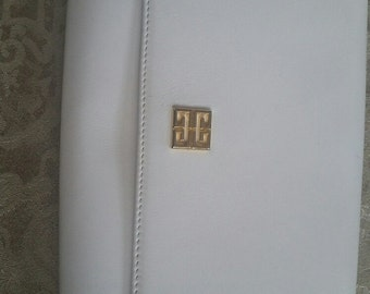 GIVENCHY White Leather Vintage Clutch (purse)
