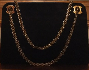 Authentic Vintage late 60's/ early 70's suede CHANEL Bag