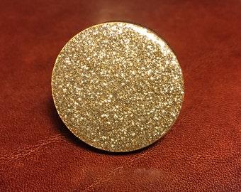gold glitter Ring 3 cm