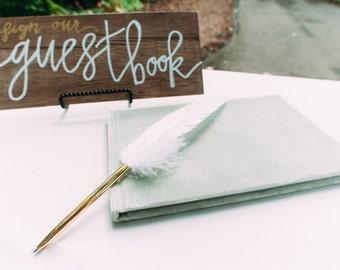 wooden wedding guestbook sign