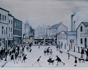 "L S Lowry ""Level Crossing, Burton On Trent"" Limited Edition Signed Print"