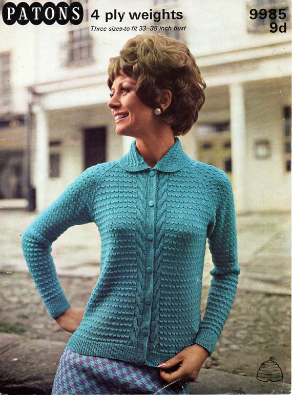 4 Ply Knitting Patterns Free Ladies : ladies cardigan knitting pattern pdf womens 4 ply jacket with