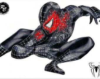 Spiderman 3 Symbiote - Matte Print