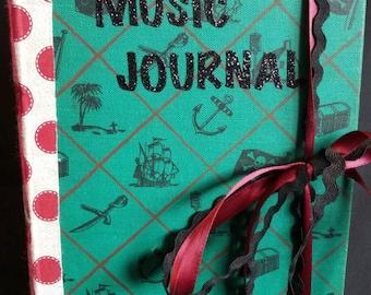 Handmade Music Journal vintage style