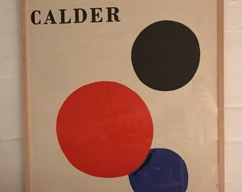 Poster exhibition CALDER 1973 Barcelona