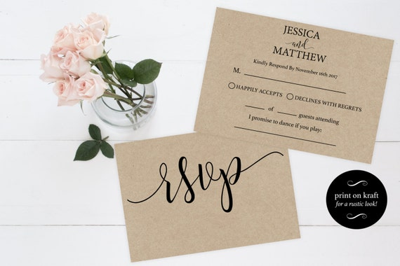 RSVP wedding template Wedding rsvp cards rsvp online rsvp