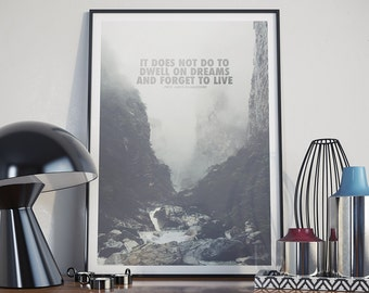 It Does Not Do To Dwell On Dreams - Poster, Harry Potter, Albus Dumbledore, Quote