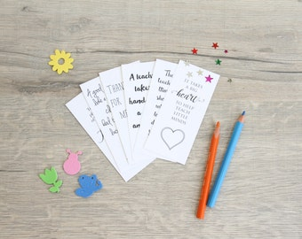 Teacher Appreciation Bookmark Printables