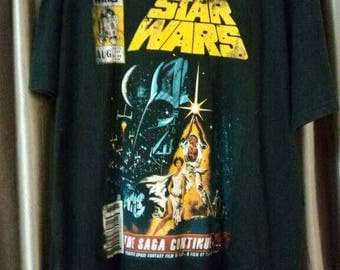 Vintage Clothing, 80's Rare, Star Wars, The Saga Continues, Size XL