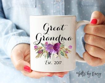 Great Grandma mug, great grandparent gifts, custom mug, baby announcement great grandparent, mug, grammy, Nana, tia, aunt, wedding, m-324