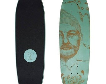 Laser engraved skateboard - Le Shape X Septembre