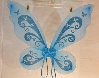 TALL Blue Butterfly/Fairy Wings