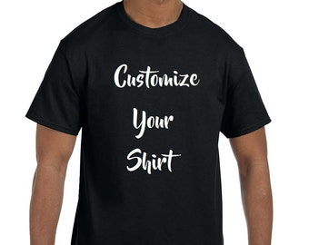 Custom Text Tee/Choose your own logo or font/soft feel tee/Short Sleeve