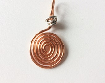Copper Swirl, Silver detail
