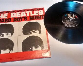 Vintage The Beatles Hard Day's Night LP