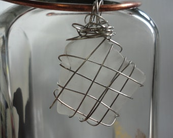 Sea Glass & Wire Wrapped Pendant 6