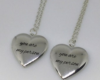 You Are My Person, Engraved Locket Necklace, Engraved Locket, Engraved Heart Locket, Heart Locket, Heart Locket Necklace, Custom Handwriting