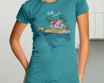 Turtle Island T-shirt / Anime & Manga Tee / Kame House / Funny  / Free Shipping worldwide/