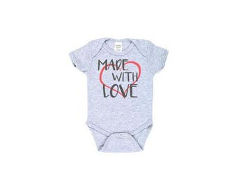 Made With Love Baby Outfit, Crawler, Bodysuit