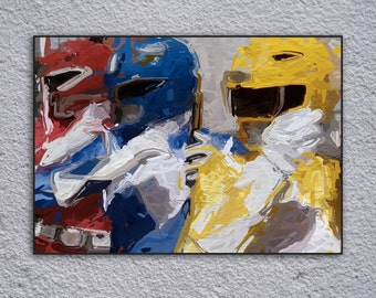 Power Rangers Framed Painting Print