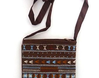 Akha Passport bag Hill Tribe textile Boho and Hippie look Gypsy Bohemian