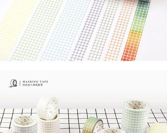 Note Tape,Washi Tape, Masking Tape, Writing washi tape, square shape washi tape, line washi tape