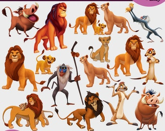 Lion king clipart | Etsy