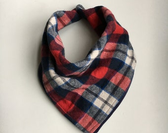 Plaid Reversible Bandana Bib