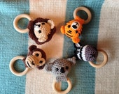 Jungle Animals Teething Rings Series (PATTERNS ONLY)