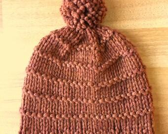 Copper - Winter Hat with Pom Pom