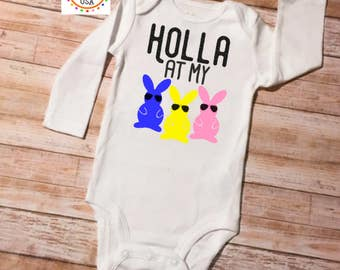 Easter Outfit, Baby Girl Easter, Easter Onesie, Funny Baby Onesie, Easter Outfit Girl, Baby Easter Outfit, Baby Shower Gift, Easter Girl