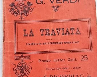 La traviata by Giuseppe Verdi-opera libretto