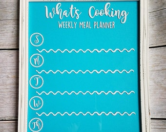 Meal Planning Board, Meal Planning Frame, Meal Planner, Dry Erase Meal Planner, Home Organization, Home Decor, Meal Organization