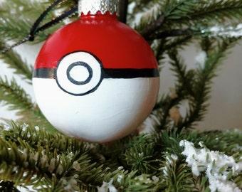 Pokemon Ornaments (Individual) Pokeball or Pikachu, Pikachu Art, Pokeball Art,  Housewarming Gift, Pokeball Painting,Pikachu Painting