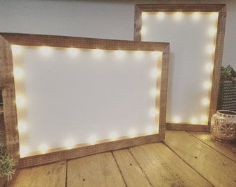 customize me 8x12 lighted frame led lights handmade hand painted wood frame custom calligraphy art wall art