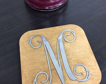 Wedding Coasters | Monogram Coasters | Housewarming Gift | Personalized Coasters | Wedding Gift | Wood Coasters | Metal Coaster| Set of Four