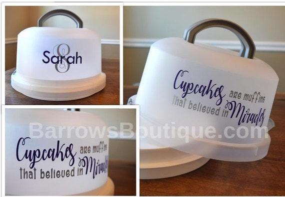 Cupcake cake carrier Personalized