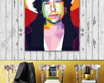 Tribute to Bob Dylan framed wall art canvas print personalized gift, husband gift, boyfriend gift, college student gift, coworker gift, gift