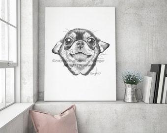 Chihuahua Lover Print, Chihuahua Art, Chihuahua Poster, Chihuahua Painting, Chihuahua Gift, Chihuahua Wall Art, Dog Art Print, Dog Wall Art