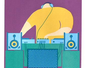 DJ - Screen Print