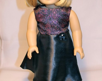 Purple and Black Dress-Made to fit 18 inch Dolls like American Girl Doll Clothes