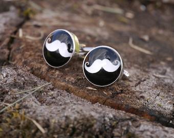 Men's Moustache Cuff Links - Mustache