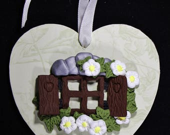 Fairy Window Wall Hanging ~ MDF Decorative Heart