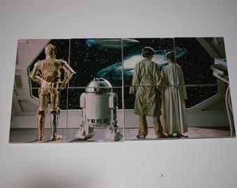 Star Wars Coasters or Wall Decor! Luke Skywalker, Princess Leia, R2-D2, C-3PO