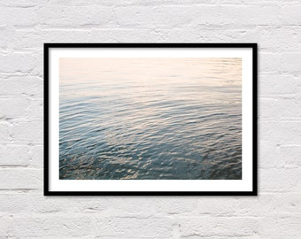 Lake Print, Lake Photography, Nautical Print, Minimalist Decor, Blue Grey Wall Art, Water Ripples, Landscape Photography, Digital Download